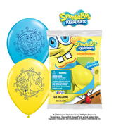 "12"" Spongebob 6 pack Latex Balloons"