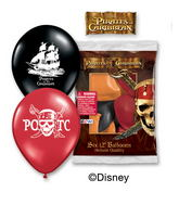 "12"" Pirates of the Caribbean 6 pack Balloons"