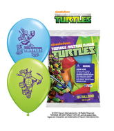 "12"" Ninja Turtles 6 pack Latex Balloons"