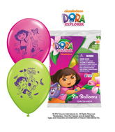 "12"" Dora the Explorer 6 pack Latex Balloons"