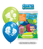 "12"" Bubble Guppies 6 pack Latex Balloons"