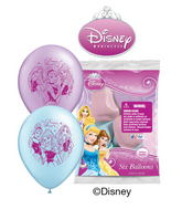 "12"" Disney Princess 6 pack Latex Balloons"