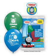 "12"" Thomas & Friends 6 pack Latex Balloons"