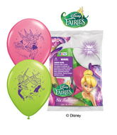 "12"" Disney Fairies 6 pack Latex Balloons"