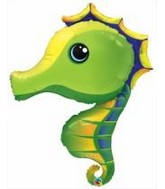 "42"" Super Sea Horse Jumbo Packaged Mylar Balloon"