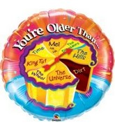 "36"" Spinner Balloon Birthday Cake You�re Older Than"