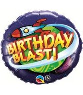 "18"" Birthday Blast In Space Mylar Balloon"