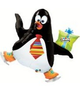 "41"" Birthday Penguin Jumbo Mylar Balloon"