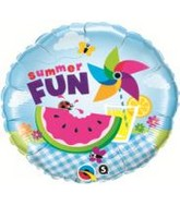"18"" Summer Fun Picnic Packaged Mylar Balloon"