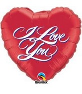 "18"" I Love You Script Mylar Balloon"