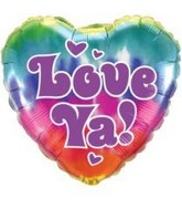 "18"" Tie-Dye Love Ya! Mylar Balloon"