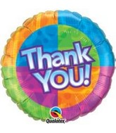 "18"" Thank You! Star Patterns Packaged Mylar Balloon"