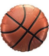 "18"" Pro Basketball Packaged Mylar Balloon"