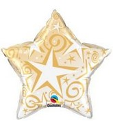 "20"" Starburst Balloon Gold"