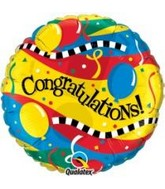 "18"" Congratulations! Party Packaged Mylar Balloon"