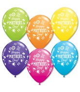 "11"" Mother's Day Springtime Floral Latex Balloons (50 ct.)"
