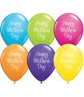 "11"" Mother's Day Classy Script Latex Balloons (50 ct.)"
