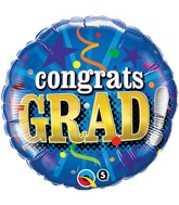 "18"" Congrats Grad! Party Balloon"