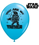 "11"" Star Wars You Are My Father Blue (25 count)"
