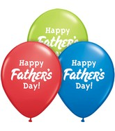 "11"" Happy Father&#39s Day! Blue, Red, Green (50 count)"