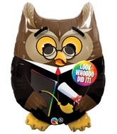 "30"" Look Whooo Did It Graduation Owl"