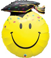 "36"" Smile Face Party Grad Balloon"