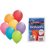 "11""  Festive Assortment 8 count Latex Balloons"