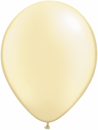 "5""  Qualatex Latex Balloons  Pearl IVORY      100CT"