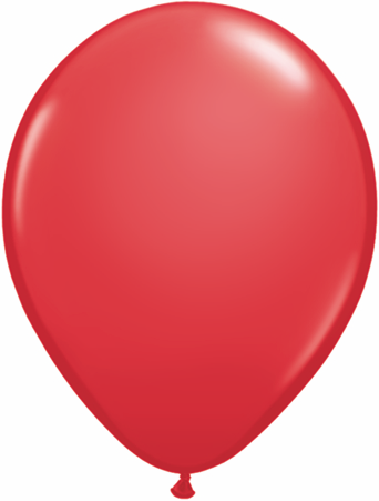 "11"" Qualatex Latex Balloons 25 Per Bag Red"