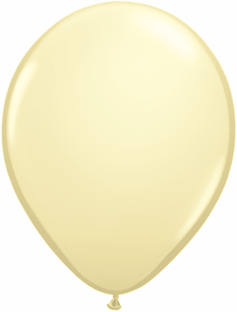 "16""  Qualatex Latex Balloons  IVORY SILK      50CT"