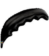 "36"" Onyx Black Palm Frond Qualatex Balloon"