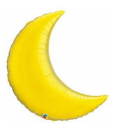 "35"" Crescent Moon Citrine Yellow Balloon"