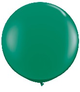 "36"" Round Circle Foil Mylar Balloon Emerald Green"