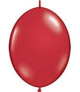 "12"" Qualatex Latex Quicklink Ruby Red 50 Count"
