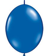 "12"" Qualatex Latex Quicklink Sapphire Blue 50 Count"