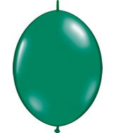 "12"" Qualatex Latex Quicklink Emerald Green 50 Count"