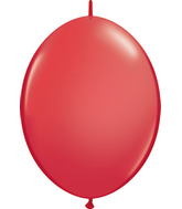 "06"" Qualatex Latex Quicklink Red 50 Count"