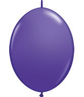 "06"" Qualatex Latex Quicklink Purple Violet 50 Count"