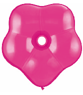 "6"" Geo Blossom Latex Balloons  (50 Count) Wild Berry"
