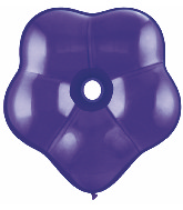 "16"" Geo Blossom Latex Balloons  (25 Count) Quartz Purple"