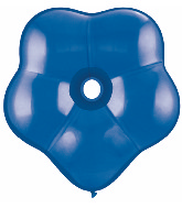 "16"" Geo Blossom Latex Balloons  (25 Count) Sapphire Blue"