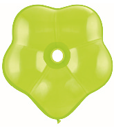 "16"" Geo Blossom Latex Balloons  (25 Count) Lime Green"