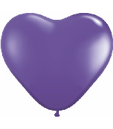 "6"" Heart Latex Balloons (100 Count) Purple Violet"