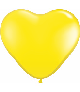 "6"" Heart Latex Balloons (100 Count) Yellow"
