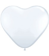 "6"" Heart Latex Balloons (100 Count) Pearl White"
