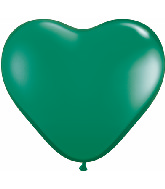 "6"" Heart Latex Balloons (100 Count) Emerald Green"