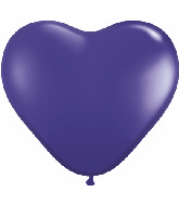 "6"" Heart Latex Balloons (100 Count) Quartz Purple"