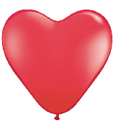 "6"" Heart Latex Balloons (100 Count) Red"