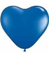 "6"" Heart Latex Balloons (100 Count) Sapphire Blue"