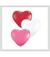 "6"" Heart Latex Balloons (100 Count) Love Assortment"